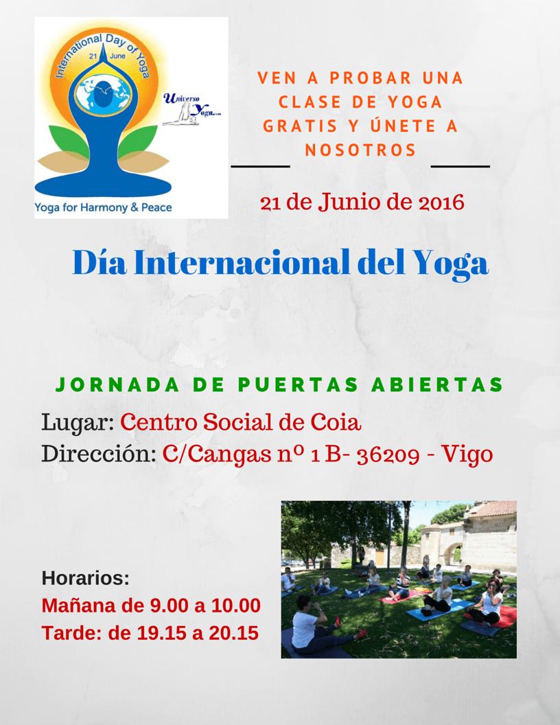 Jornada de puertas abiertas- clase de yoga gratuita