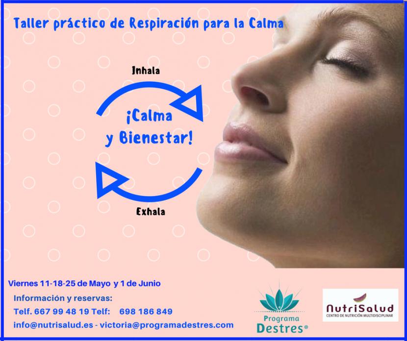 Taller práctico de respiración para la calma