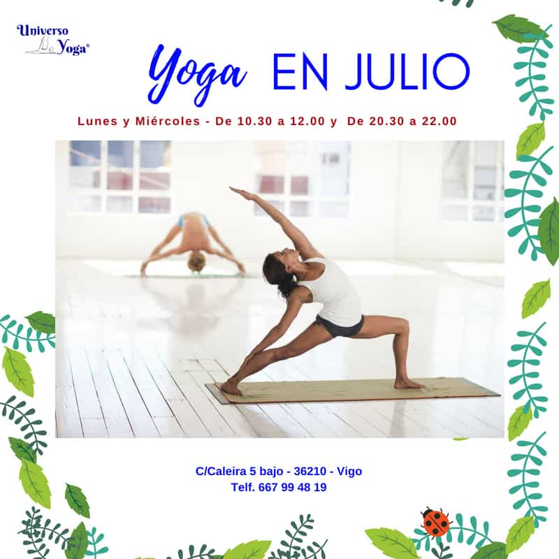 Yoga en el mes de Julio en Universoyoga