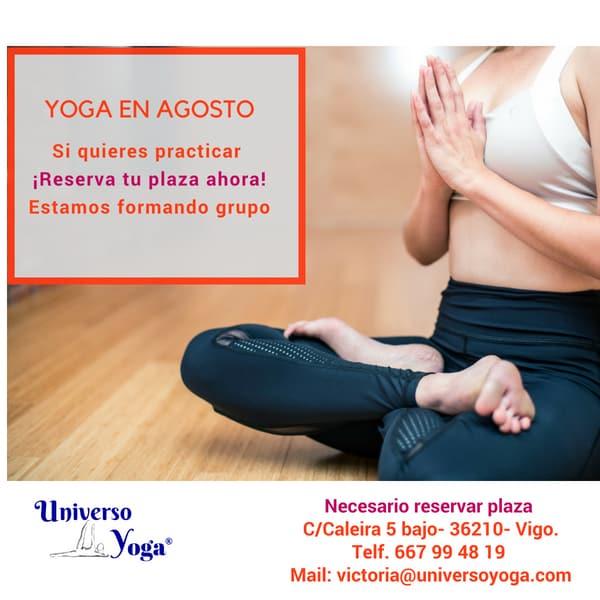 Yoga en el mes de Agosto en Universoyoga