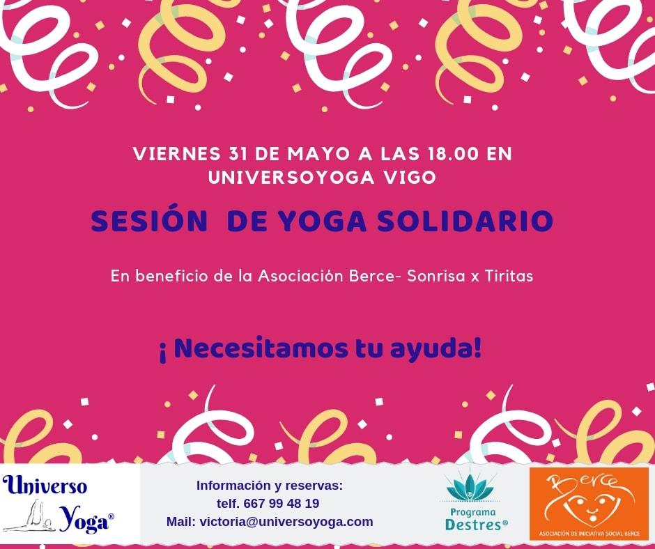 Sesión de Yoga Solidario - Sin tu solidaridad no será posible